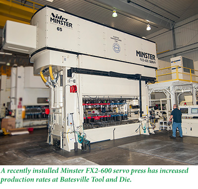 Installed Minster FX2-600 Servo Press