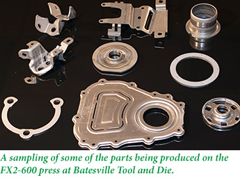 Parts produced by the FX2-600 press