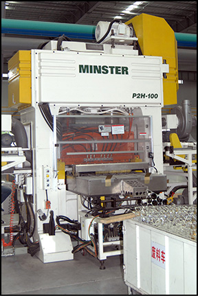Minster P2H Press producing shells