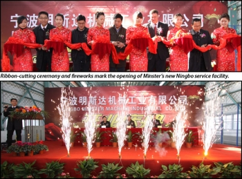The Minster Machine Company celebrated the opening of its subsidiary in Ningbo, China
